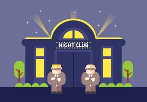 Bouncers gratuits au club de club de nuit vecteur