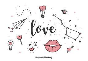 Ensemble de vecteur d'amour
