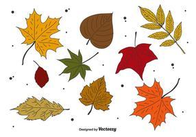 Ensemble de vecteur de feuilles d'automne