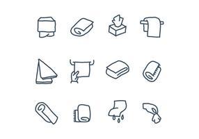 Icônes de serviette vecteur