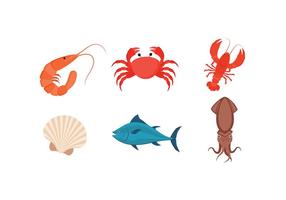 Vecteur libre de fruits de mer