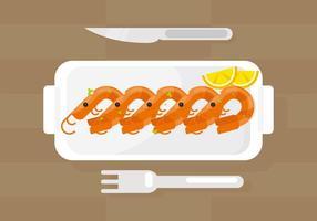 Illustration de crevettes vecteur