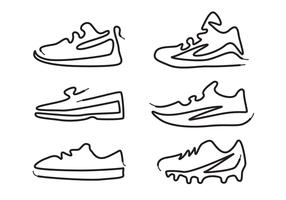 vecteur de chaussure créative