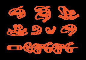 Vecteur d'icônes de crevettes