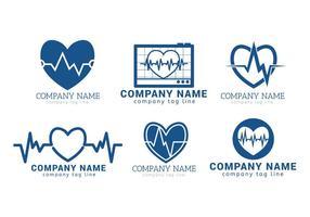 Ensemble de vecteurs de rythme cardiaque vecteur