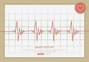 Illustration de rythme cardiaque libre vecteur