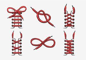 Red Shoestring Sttyle Illustration dessinée à la main vecteur