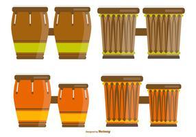 Illustrations de Bongo africain vecteur