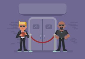 Deux Bouncer Guarding Nightclub Door vecteur
