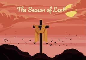 L'illustration vectorielle de la saison du carême