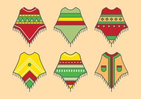 Vecteur de poncho mexicain