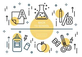 Éléments vectoriels linéaires gratuits de retour à l'école