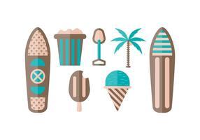 Vecteur gratuit de plage et de paddleboard