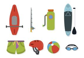 Vecteurs de sports nautiques plats vecteur