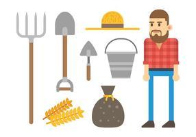 Vecteur d'icônes paysannes