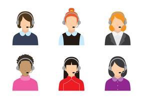 Women Call Center vecteur