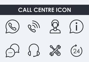 Icône Centre d'appels vecteur