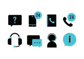 Call Center Icon Pack vecteur