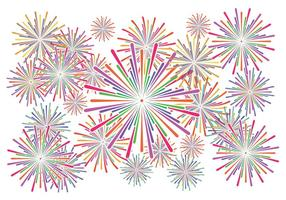 Fireworks vecteur fond blanc
