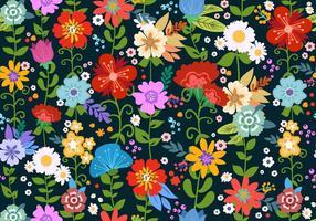 Éléments de motif sans soudure Flower Ditsy vecteur