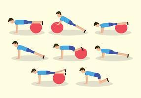 dessin animé push up vector