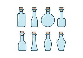 Pack d'icônes de bouteilles vecteur