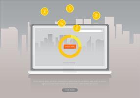 Contenu marketing par renvoi, communication commerciale commerciale. vecteur