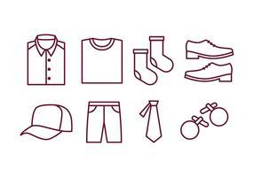 Men Accessoires Icon Pack vecteur