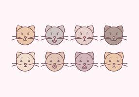 Vecteur Cute Cats Emoticons