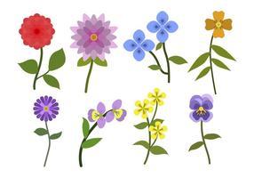 Vecteurs de fleurs plates vecteur