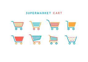 Vector de panier de supermarché gratuit