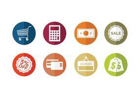 icône de supermarché vecteur gratuit