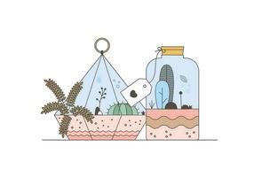 Vecteurs de terrarium gratuits vecteur