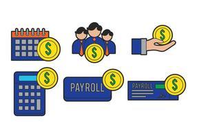 Ensemble vectoriel de paie