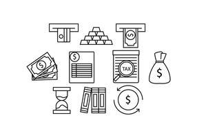 vecteur d'icône de ligne de finance gratuite