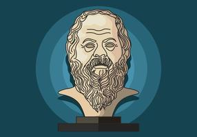 Portrait de Socrate vecteur