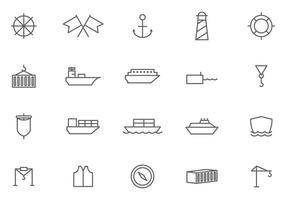 Vecteurs de port gratuits vecteur