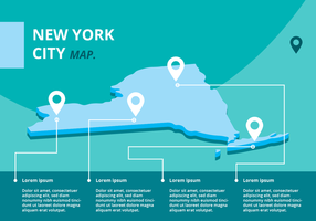 infographie de carte new york vecteur