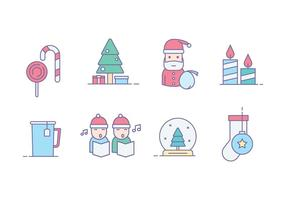 Icônes gratuites de Noël vecteur