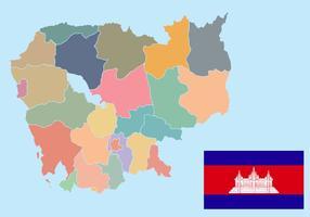 Carte vectorielle Cambodge vecteur