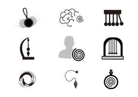 Vecteur gratuit d'icônes d'hypnose
