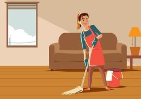 Vecteur gardien de ménage