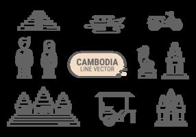 Vecteur d'icônes du Cambodge