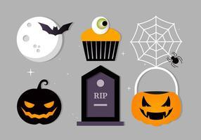 Collection gratuite d'éléments vectoriels de bonbons de Halloween vecteur