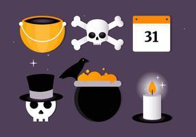 Collection gratuite d'éléments vectoriels d'Halloween vecteur