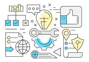 Icônes de réussite gratuite des entreprises vecteur
