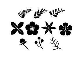 Vecteur floral gratuit d'icônes