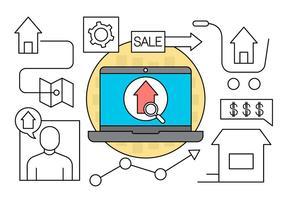 Icônes de transactions immobilières gratuites vecteur