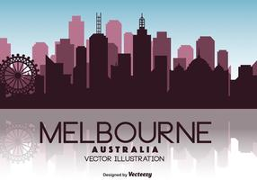 illustration de l'horizon du vecteur Melbourne