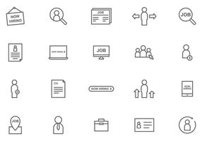 Vecteurs de recrutement gratuits vecteur